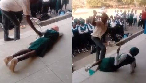 Image result for school students on punishment nigeria