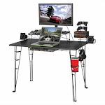 Atlantic Inc Gaming Desk In Black - 33935701