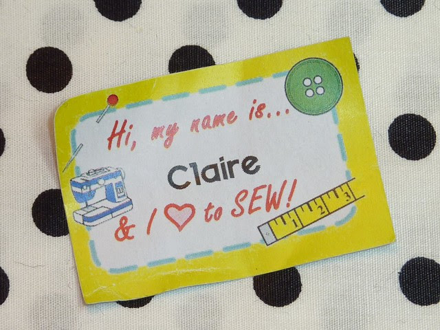 Hi, my names is... & I love to SEW!