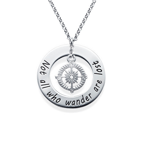 Must Have Product of the Week: Compass Necklace with Engraved Disc