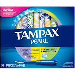 Tampax Pearl Plastic Tampons, Unscented, Triplepack - 50 count