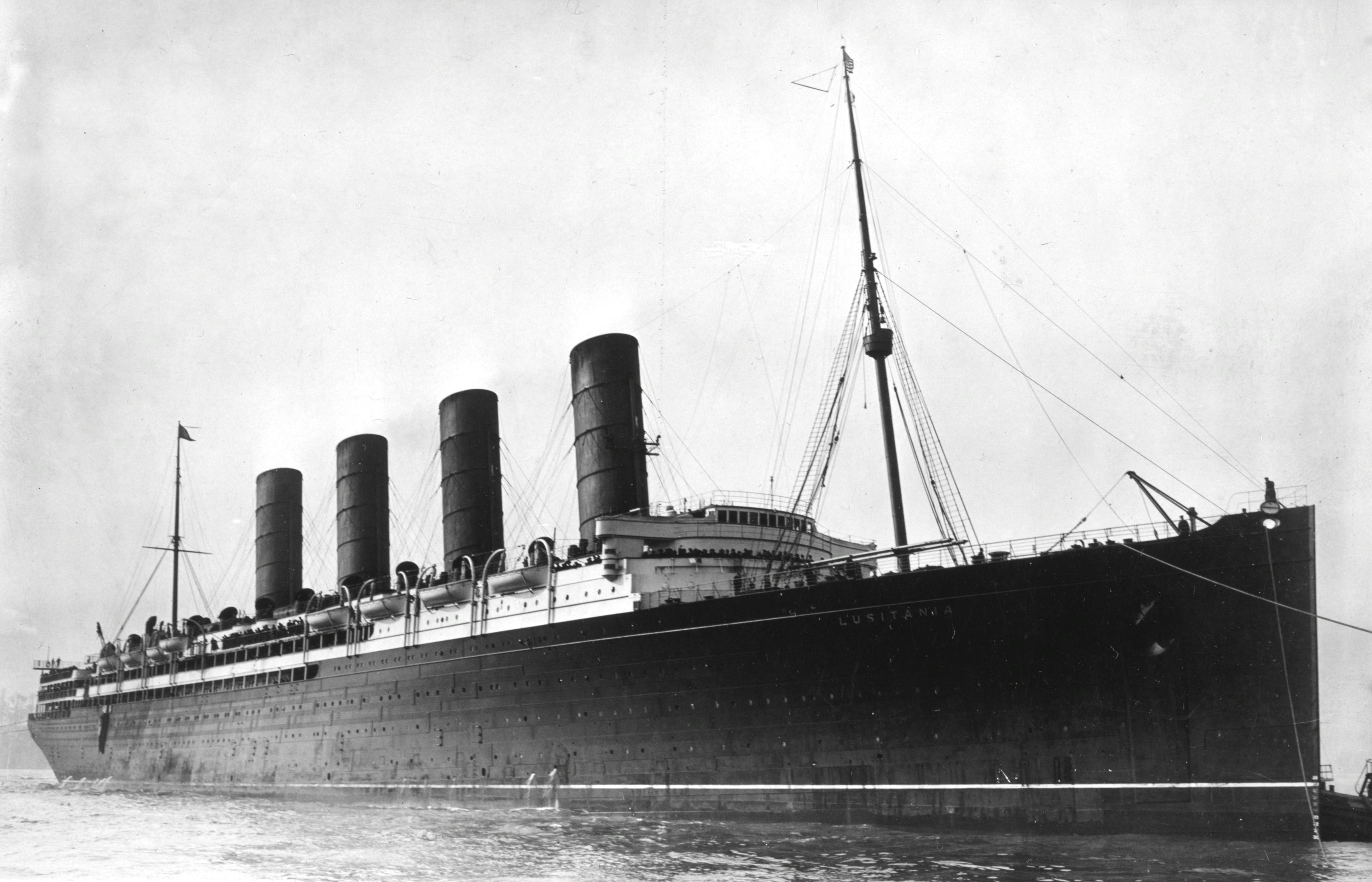 RMS Lusitania carried munitions across the pond