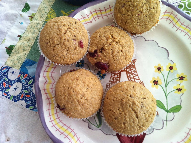 quinoa muffins on my new plate