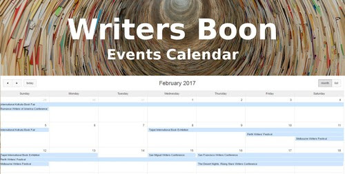 Keep Track of Upcoming Live Training & Publishing Events with Writers Boon Events Calendar