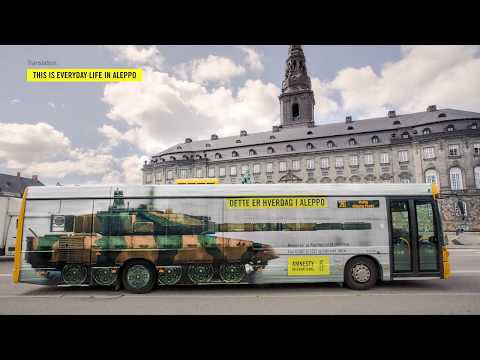 Outdoor of the day. Amnesty International | Bus Tank