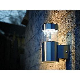 screwfix led steel outdoor wall light home pinterest. Black Bedroom Furniture Sets. Home Design Ideas