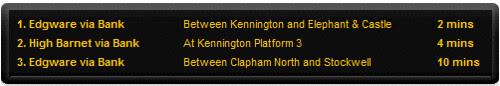 Online London Underground Departure Boards
