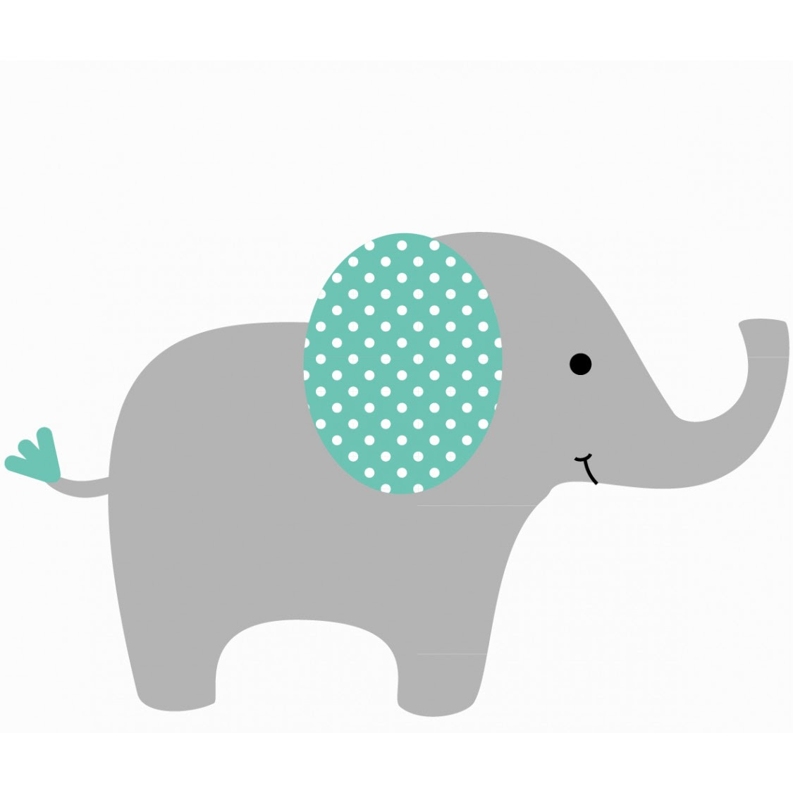 Elephant with Pattern On Ear - Wall Decals