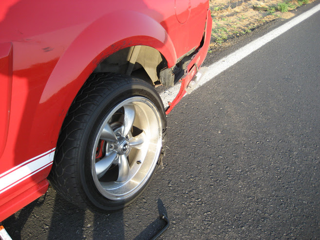 Mph Tire Blowout The Mustang