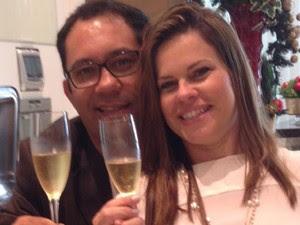 A vítima Eduardo Barreto e a mulher dele, Eliana Barreto, suspeita de participar da morte do marido (Foto: Reprodução/Facebook)