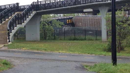 CSX train cars leaking chemicals after derailment in Washington, DC