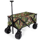 Goplus Collapsible Folding Wagon Cart Outdoor Utility Garden Trolley Buggy Shopping Toy