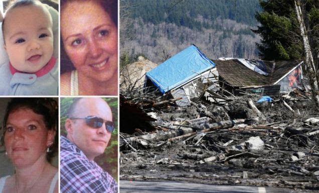 After hearing voices pleading for help, rescuers were 'combing through the debris' in an overnight search for survivors from a massive mudslide in Washington state that has killed at least three people and forced evacuations because of fears of severe flooding. The mudslide occurred in rural Snohomish County about 55 miles north of Seattle, Washington state, on Saturday morning. Rescuers were using thermal imaging cameras to help try to find people. So strong was the force of the slide, it carried a house with people still inside across a road.