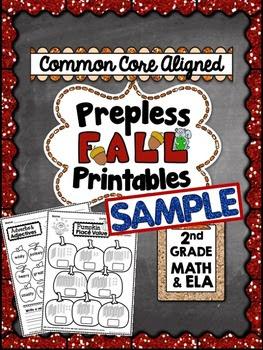 Fall Prepless (NO PREP) Printables - 2nd Grade Common Core