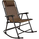 Best Choice Products Foldable Zero Gravity Rocking Patio Recliner Chair Brown