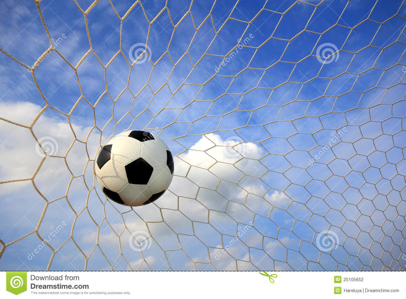 Soccer Ball In Net Stock Photography Image 25105652
