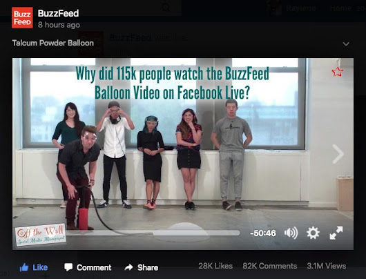BuzzFeed Talcum Powder Balloon video was watched by 115k people??