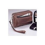 Winn 64084 Leather Clutch & Compact Organizer - Brown