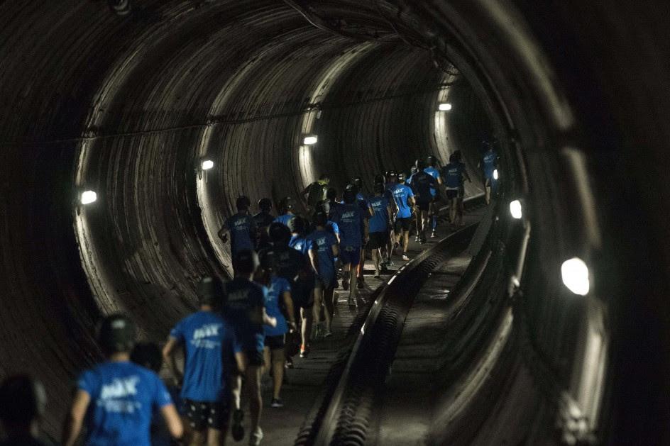 Carrera en el metro de Barcelona
