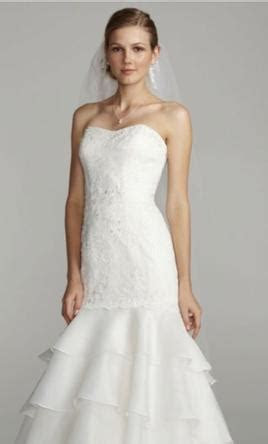 Melissa Sweet Sweet floral lace trumpet bridal gown , $300