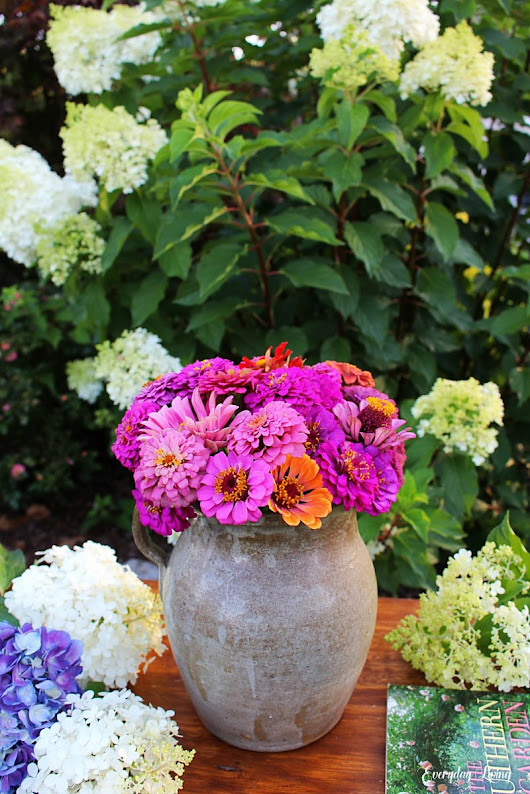 A Pitcher of Zinnias – Floral Friday