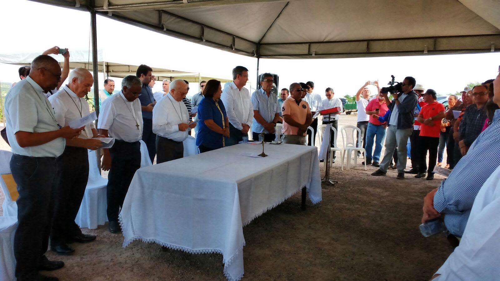 Aspecto da celebração de acolhimento da caravana em Assu – Fotos: Sidney Silva