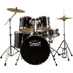 Union 5-Pc. Drum Set, Black