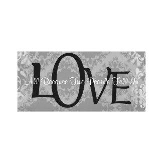 Vintage Damask Love Quote Canvas Print