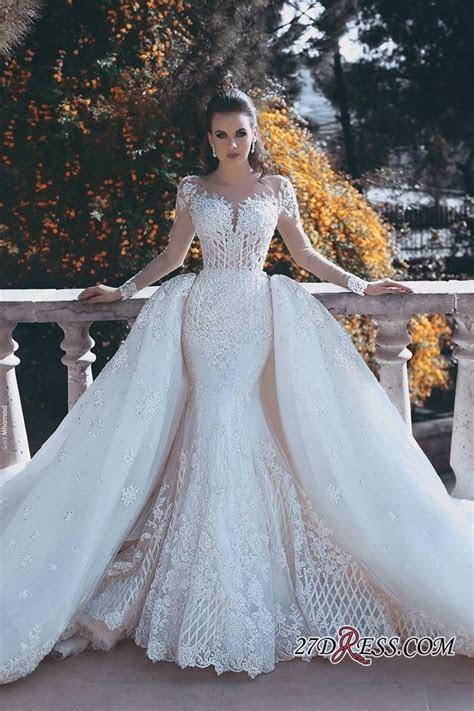 Glamorous Long Sleeve Lace 2018 Wedding Dress Mermaid On