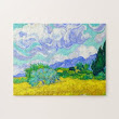 SOLD! - Wheat Field with Cypresses by Vincent Van Gogh Jigsaw Puzzle
