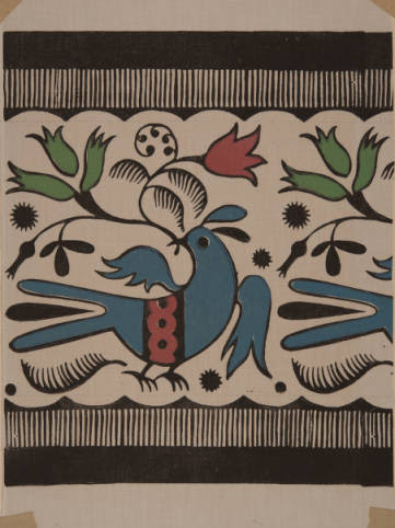 <i>Border Designs, Blockprinted Textile, 1935-1936</i>