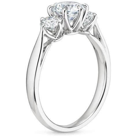 18K White Gold Three Stone Catalina Diamond Ring (1/2 ct
