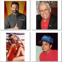 Collage of Michael Jackson, Farrah Fawcett, Ed McMahon, and Billy Mays