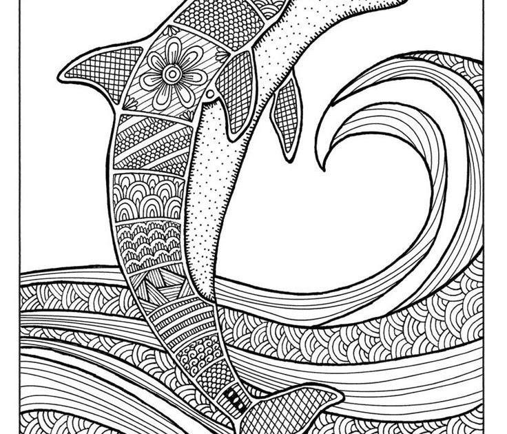 ausmalbilder erwachsene delfin  aiquruguay