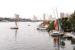English: The Nile River as it flows through th...