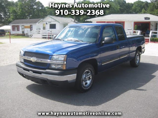 Used 2003 Chevrolet Silverado 1500 Ext. Cab Short Bed 2WD for Sale in Fayetteville NC 28303 Haynes Automotive