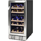 "NewAir AWR-290DB 29-Bottle Dual Zone Undercounter Wine Cooler - 14.9"" - 3.2 cu ft - Stainless Steel"