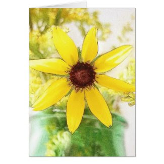 Black Eyed Susan Bouquet card