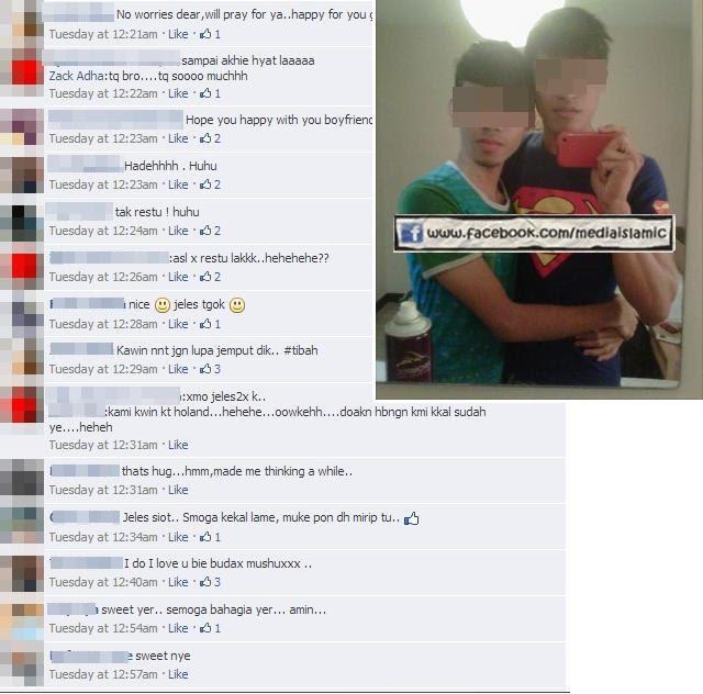Gay Melayu Minta Restu Di Facebook