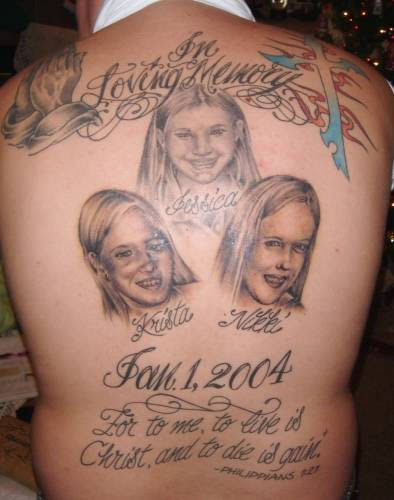 In Loving Memory Tattoo On Back Tattoo Designs Tattoo Pictures