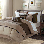 7pc King Overland Faux Suede Comforter Set - Brown