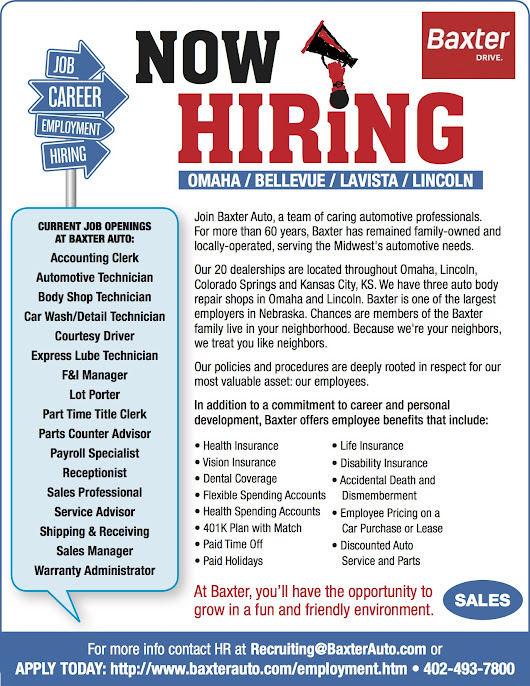Baxter - NOW HIRING