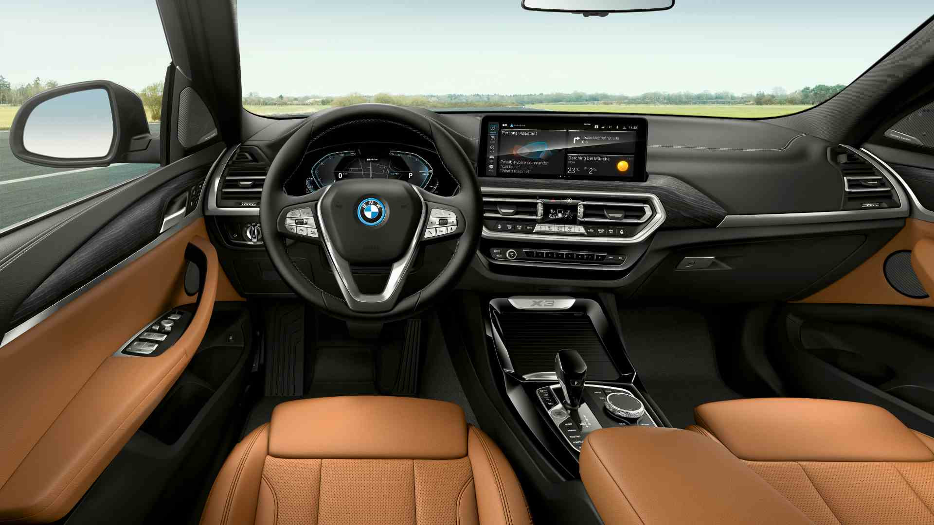 On the inside, the BMW X3 and X4 now get three-zone climate control and a 10.25-inch infotainment screen as standard. Image: BMW
