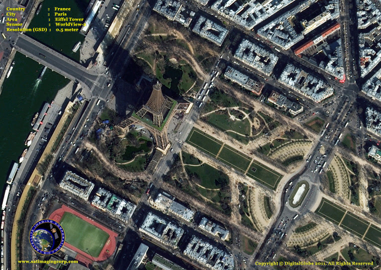 Satellite Images - Eiffel Tower