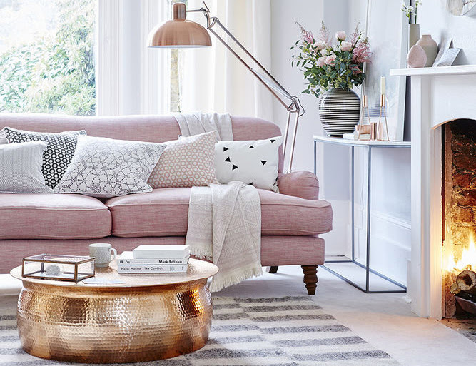 Beach Pretty House Style Pink And Gray Interior Design
