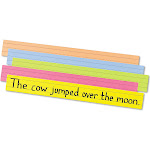 Pacon Creative Products Super Bright Sentence Strips Notepad, Assorted - 100 count