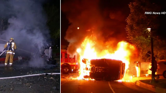 Street racing possible factor in fiery Beverly Hills car crash |