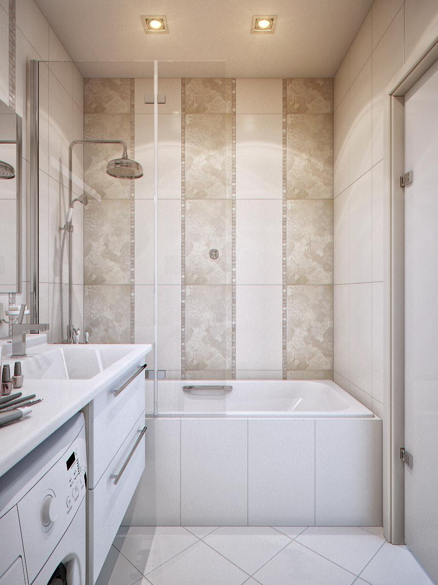 Bathtub on a Decorative Tiled Wall | Interior Design Ideas.