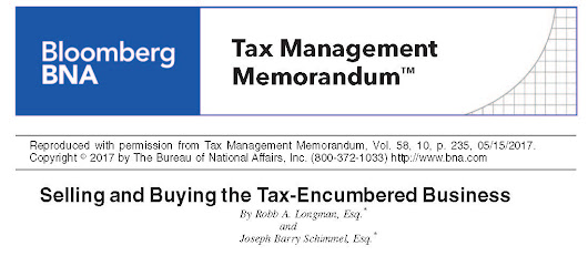 Tax-Encumbered Business Article Authored by Longman & Van Grack Attorney Published by BNA Bloomberg - Longman & Van Grack, LLC
