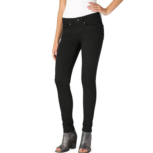 eefef1720ee05 Denizen from Levi's Low-Rise Jeggings, Womens Plus, Black Pearl, ...